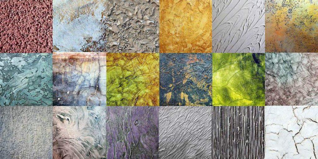 Использование в дизайне фактурной краски - виды