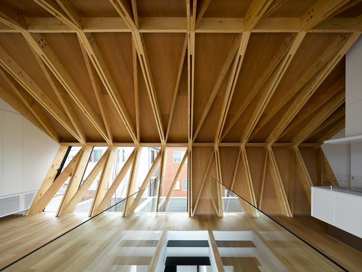 Деревянные перекрестно клееные панели - помещение с применением CLT-плит