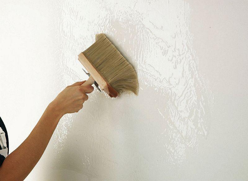 Использование в дизайне фактурной краски - способ нанесения жесткой кистью или щеткой