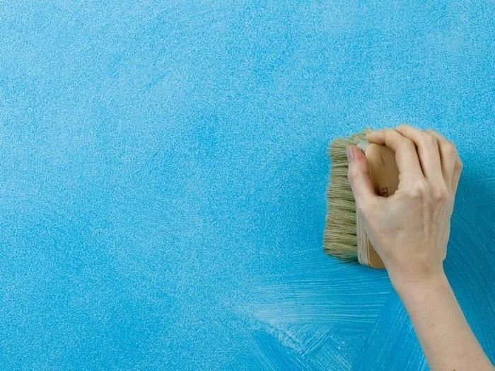 Использование в дизайне фактурной краски